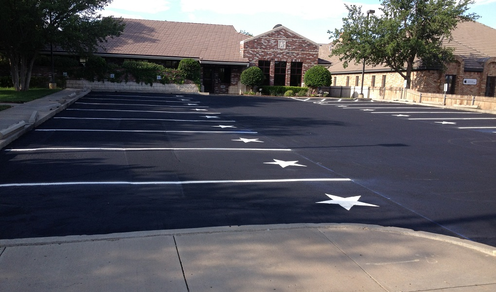 Freshly Paved Parking Lot